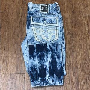 NEW Men's Rock Revival Straight Leg Jeans Sz 38
